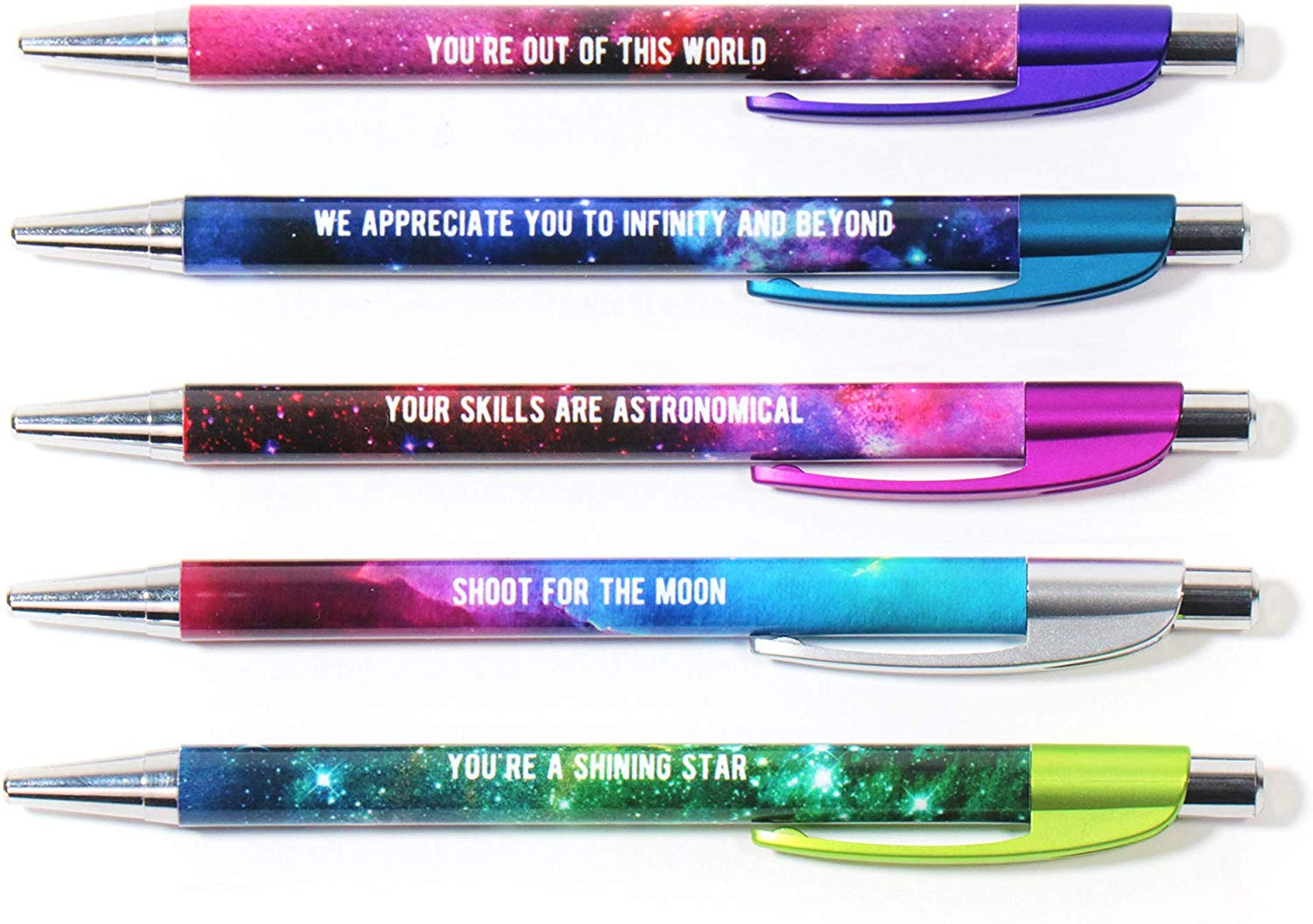 Colorful Motivational Quote Pens