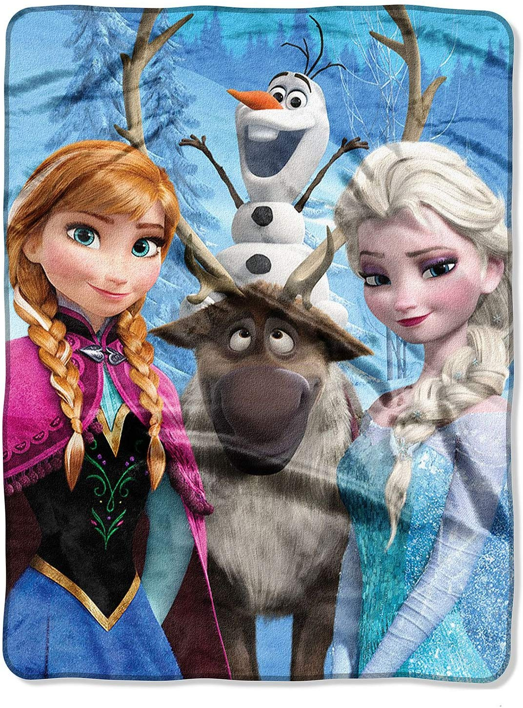 Disney Frozen 2 Kids Silk Fleece Throw Blanket - frozen gift ideas