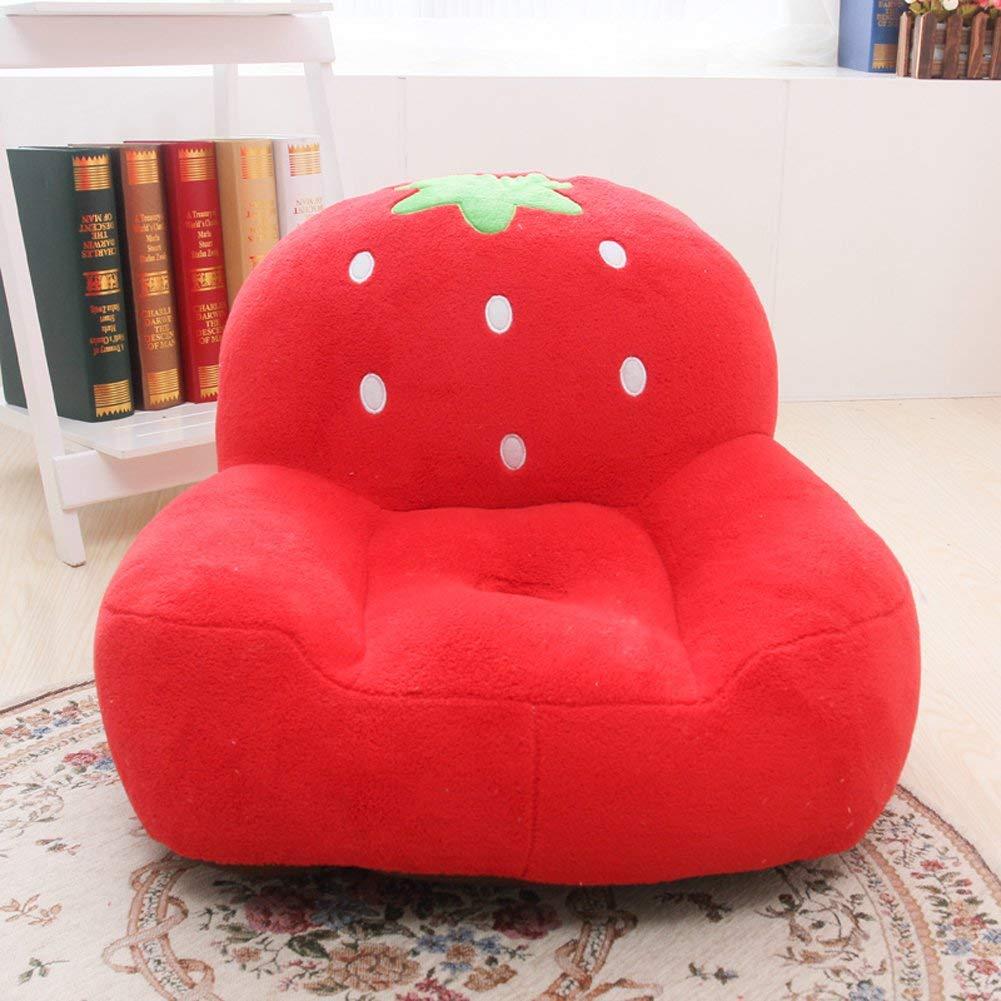 Super Cute Red Strawberry Stuffed Plush Toy Bean Bag Chair