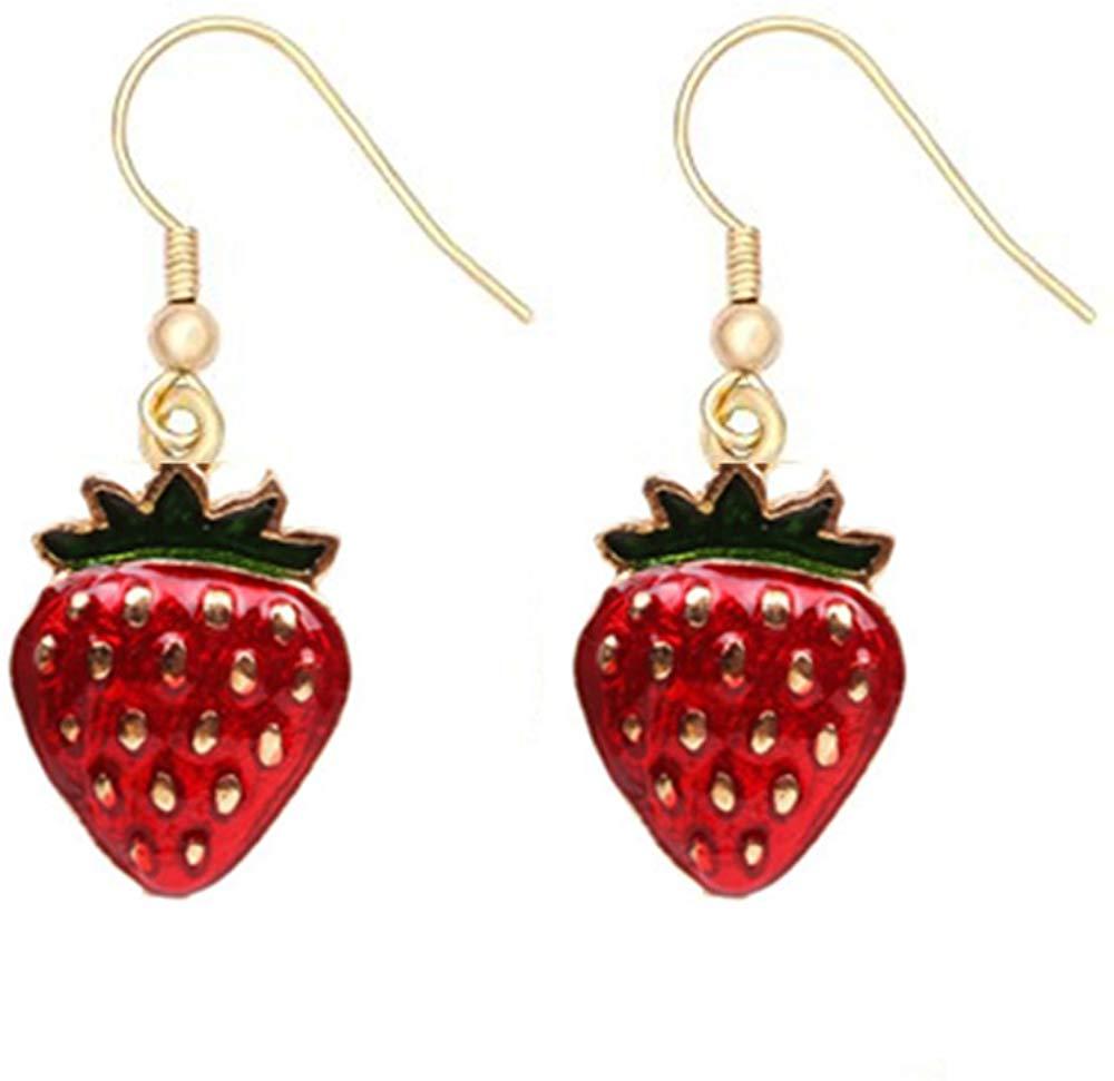 Fruit Drop pretty Red Strawberry Earring