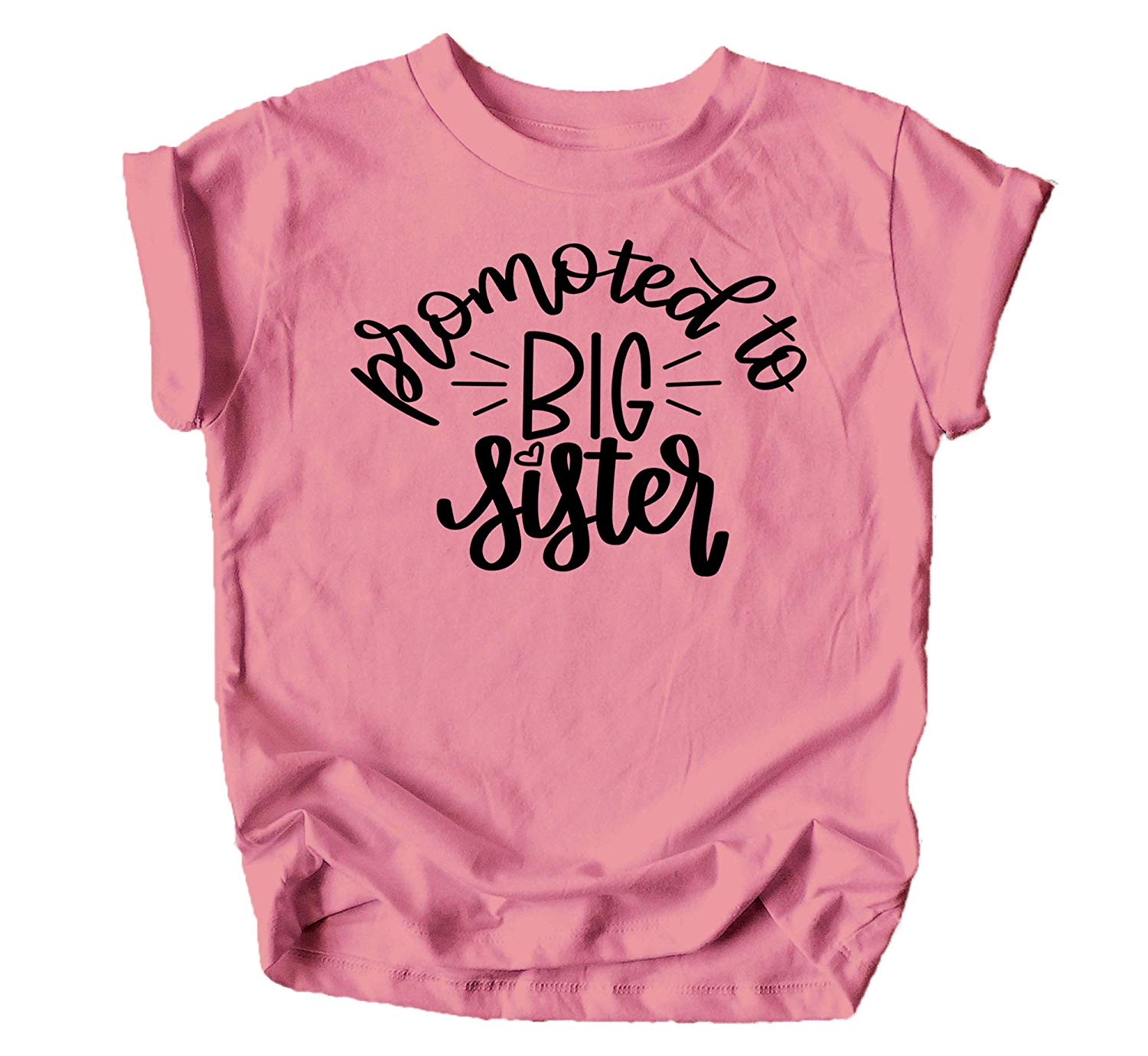 Big Sister Colorful Announcement T-Shirt