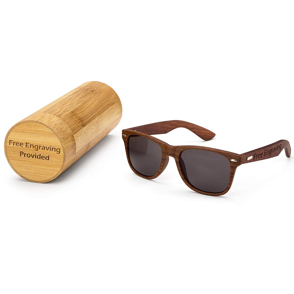 Personalized Mens Wooden Sunglasses