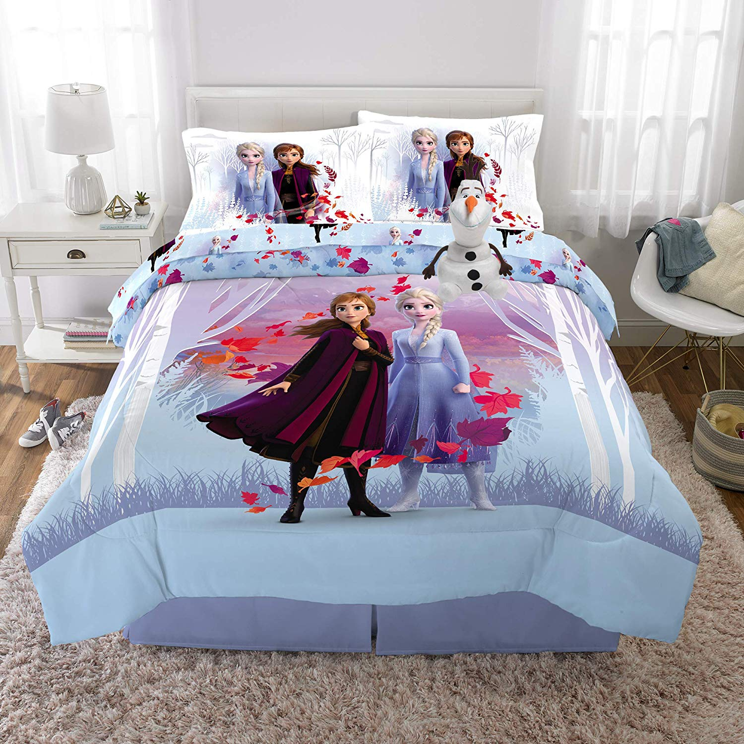 Super Soft Comforter with Sheets and Plush Cuddle Pillow Set - frozen gift ideas