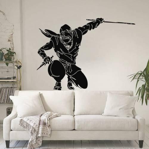 Warrior Ninja Fighter with Swords - ninja gifts