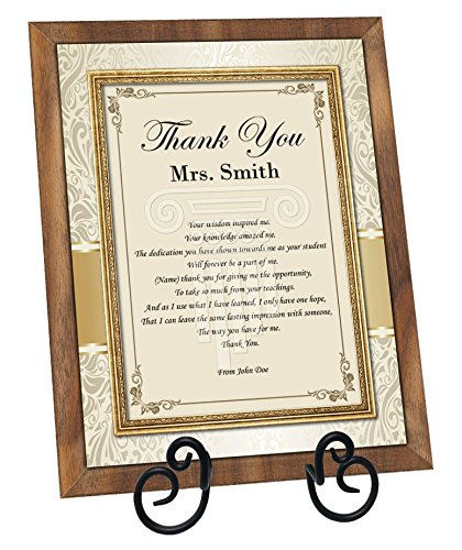 Gift Ideas for Mentors - A personalized Frame with a message