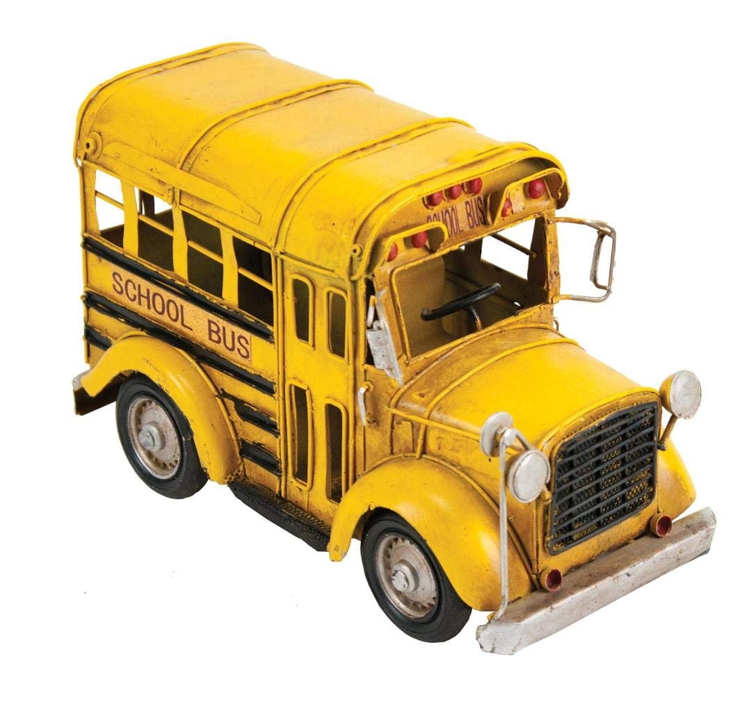 A vintage-looking yellow school bus - Bus driver gifts