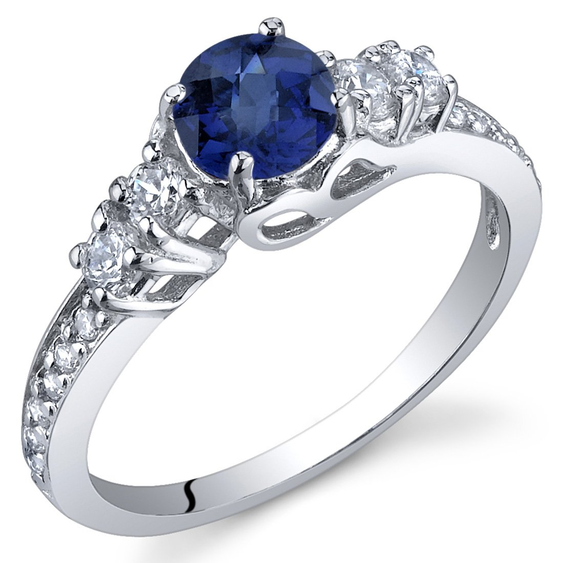 Sapphire Solstice Ring Sterling Silver - 45th wedding anniversary gift