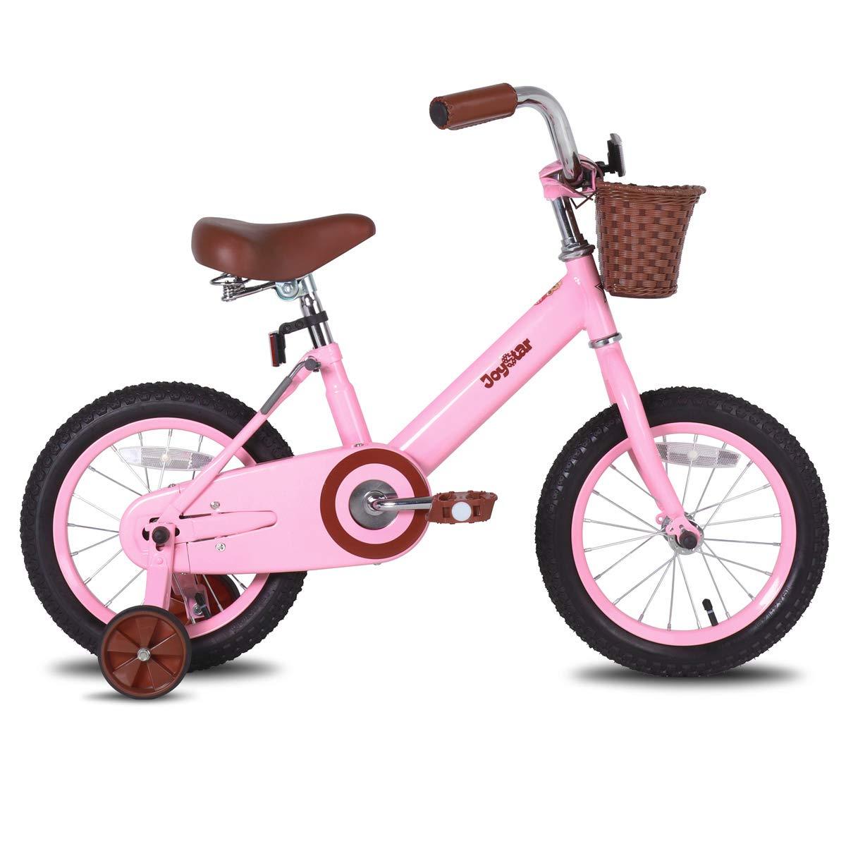 Kids Bike with Basket & Training Wheels - golden birthday gift ideas for her