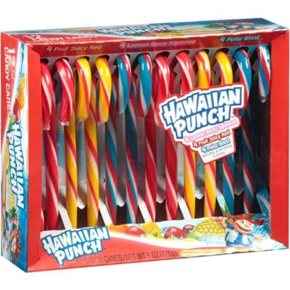 Assorted Flavor Hawaiian Punch Candy Canes