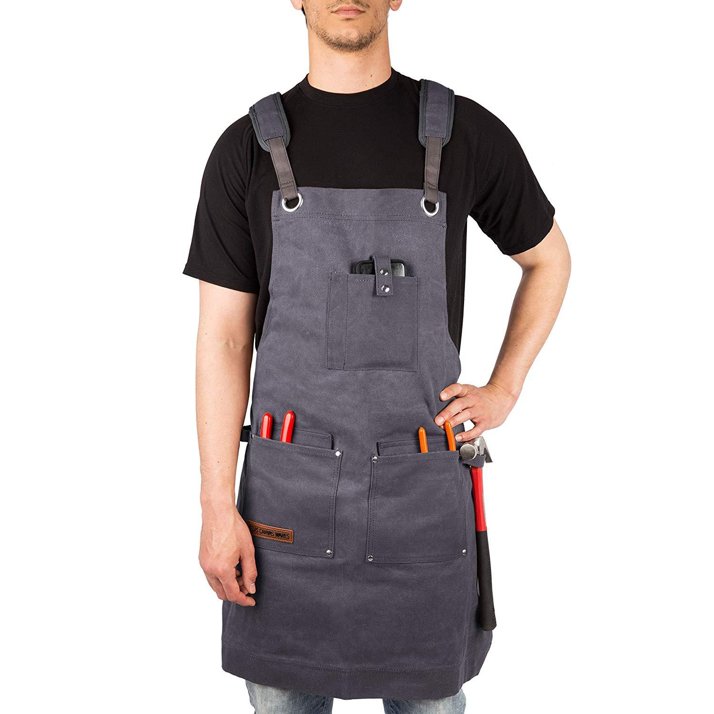 Heavy Duty Work Apron With Pockets