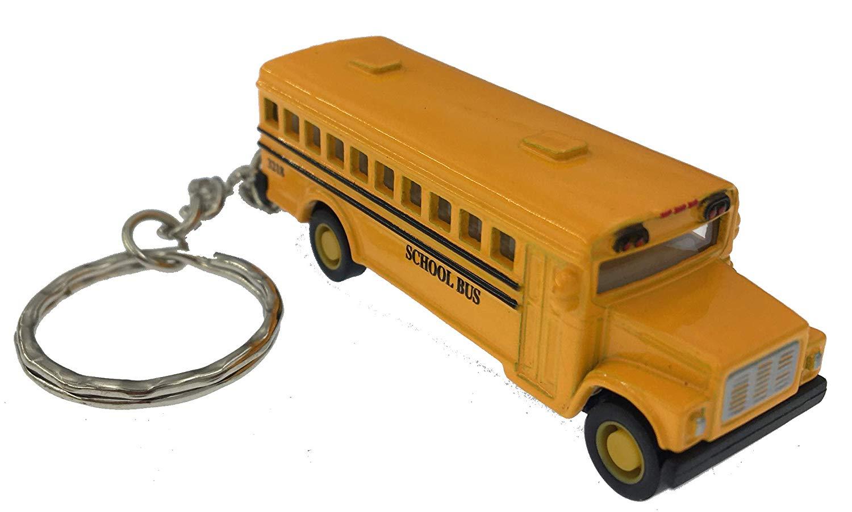 A mini school bus keychain for bus driver