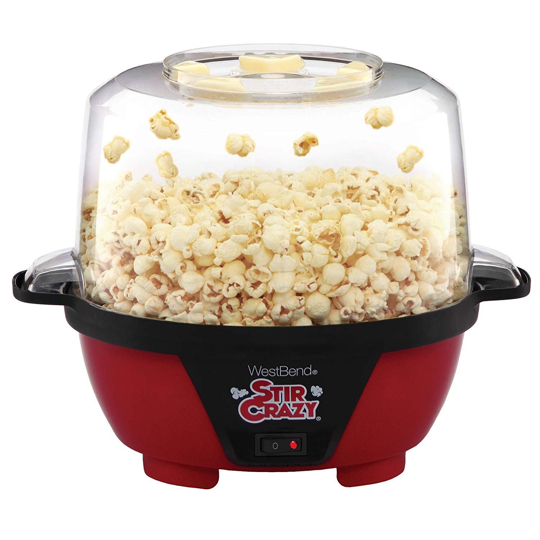 Crazy Electric Hot Oil Popcorn Popper Machine - popcorn lovers gift ideas
