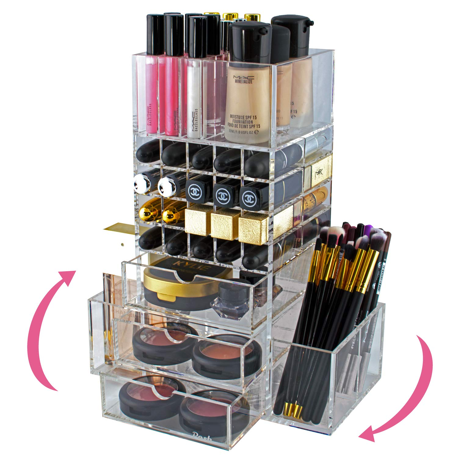 Spinning Makeup Organizer Rotating Tower - golden birthday gift ideas for her