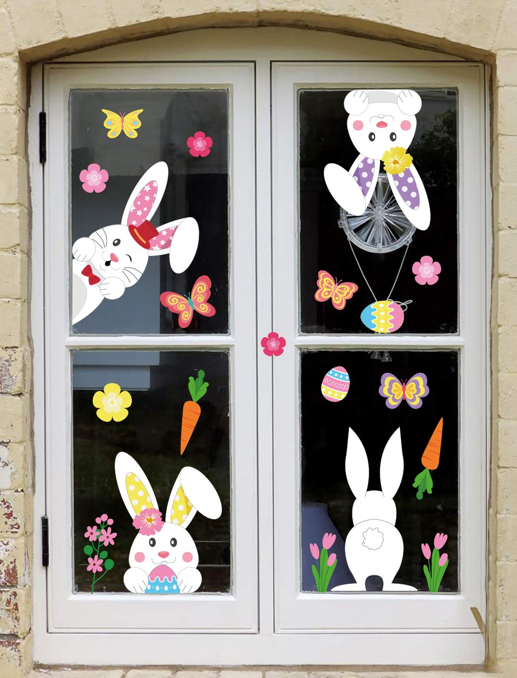 Easter Bunny Window Cling Decorations