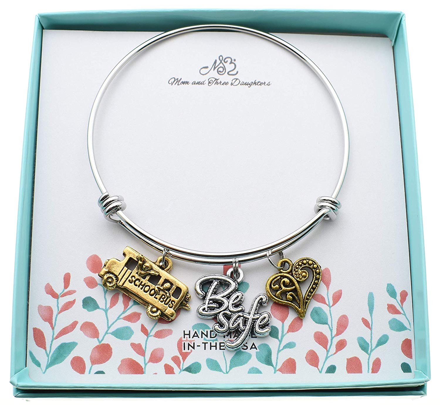 Cool driver gift ideas - A cute bangle with school bus themed charms