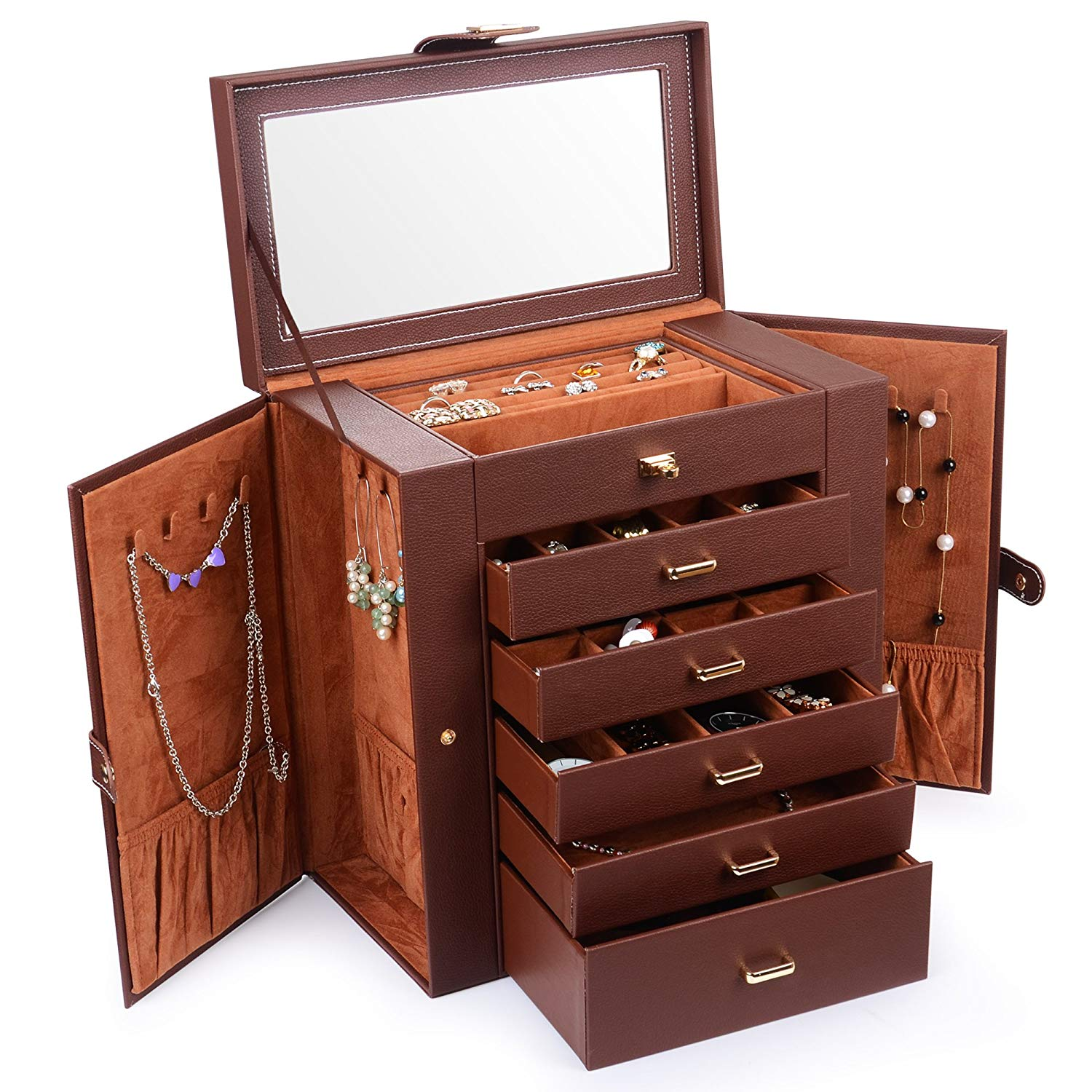 Kendal Huge Leather Jewelry Box