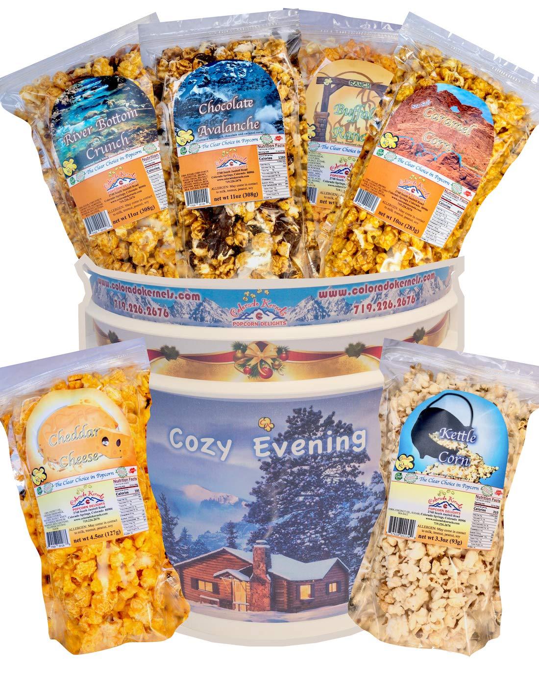 SIX FLAVOR POPCORN BUCKET - popcorn gift set