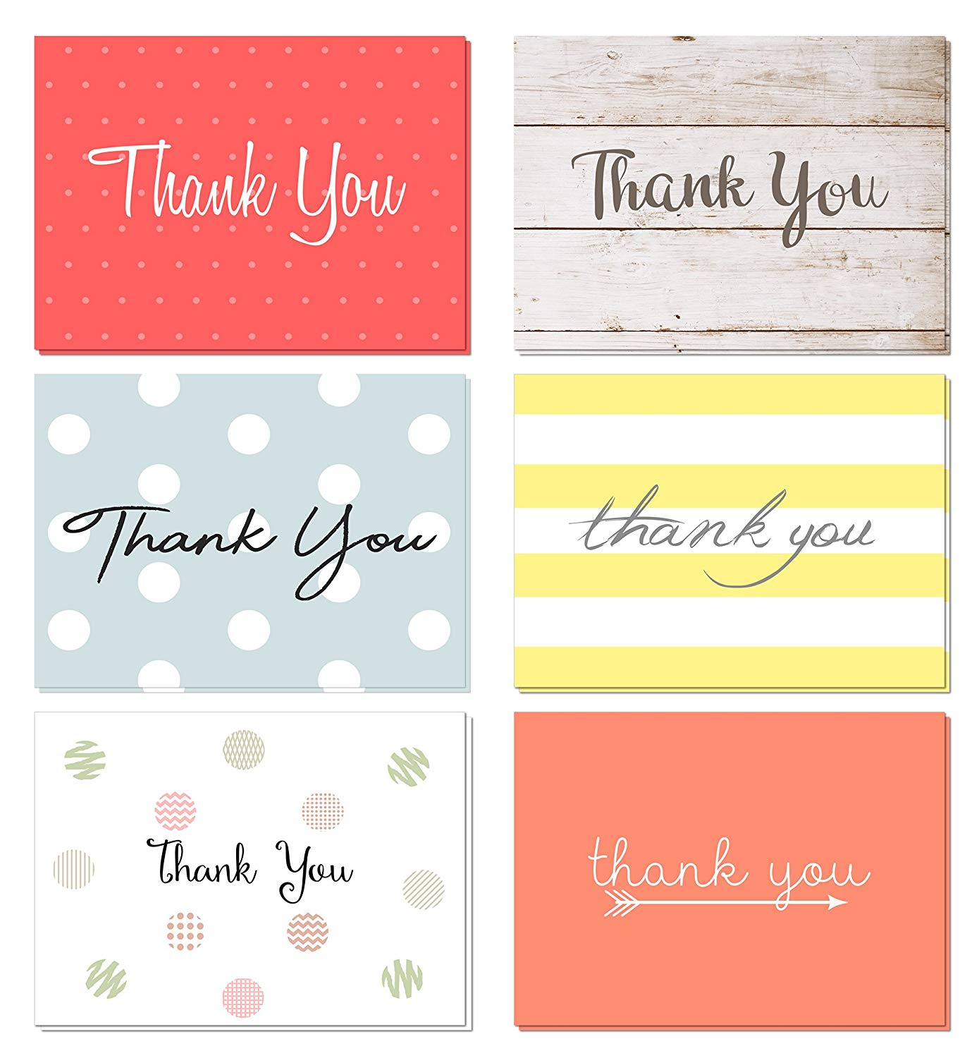 Thank You Cards Set with Envelopes